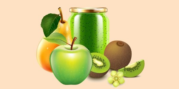 джем або варення з груш, ківі та яблук