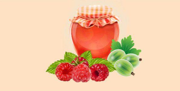 джем або варення з аґрусу та малини