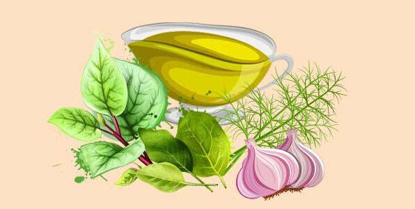 соус з кропом, часником, шпинатом і щавлем